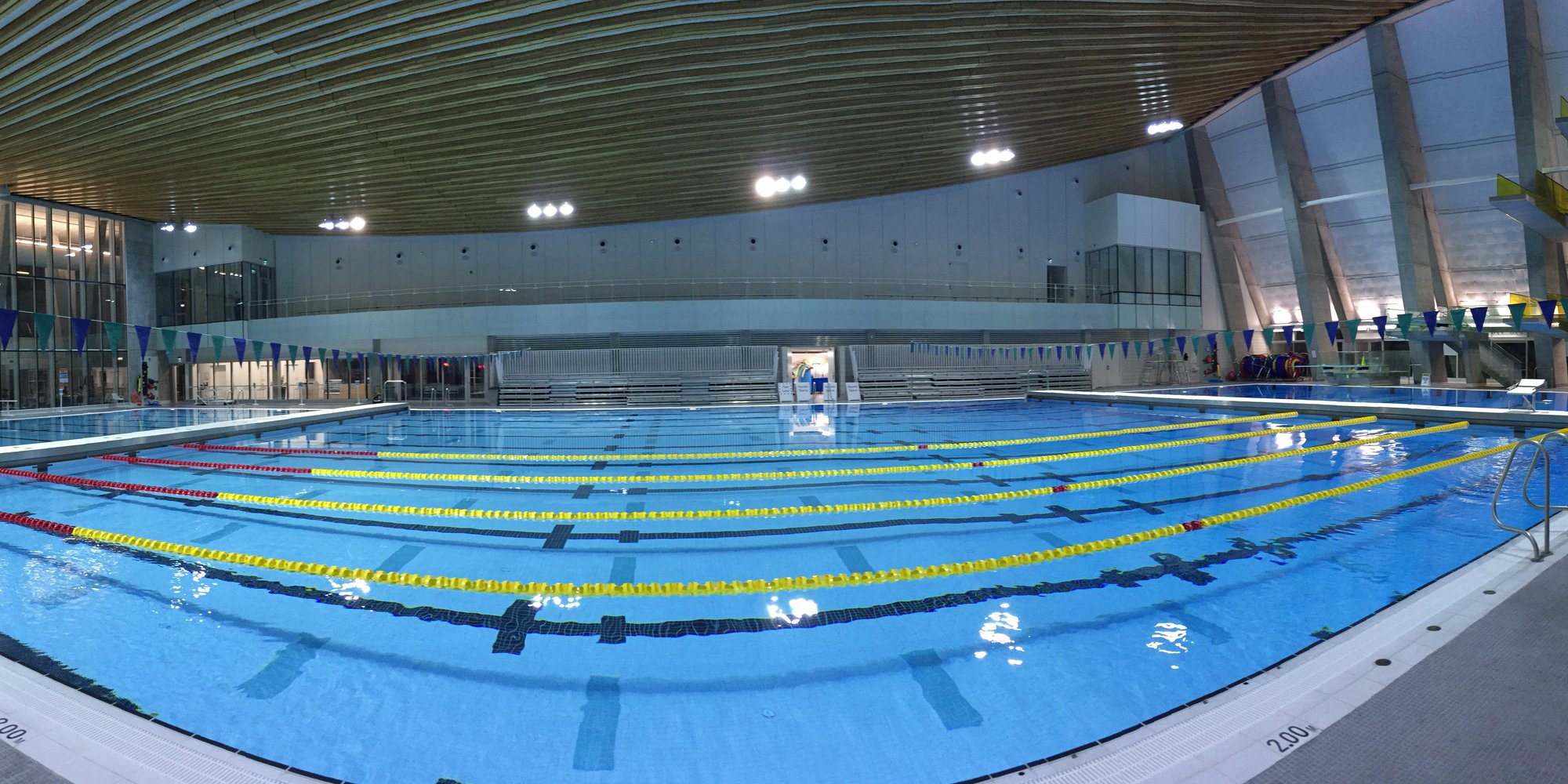 We shot scenes underwater at the Grandview Heights Aquatic Centre. The team there were super accommodating for our shoot!