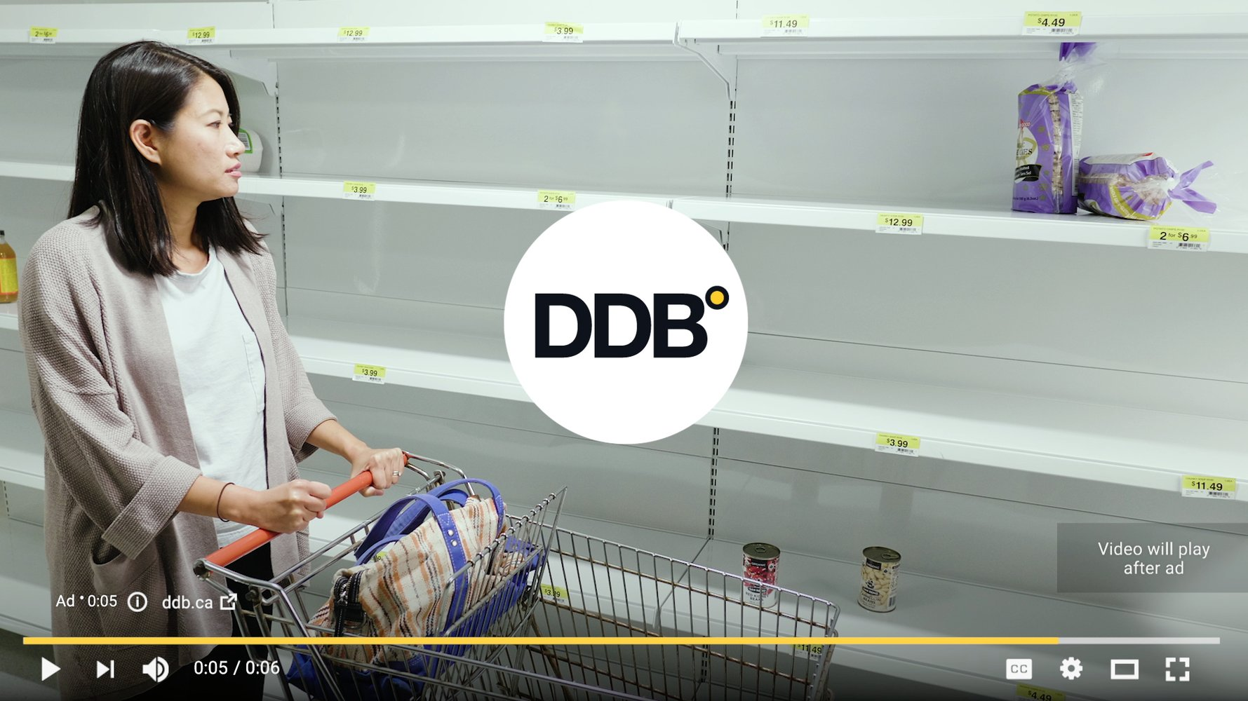 DDB is known for getting products off the shelves.