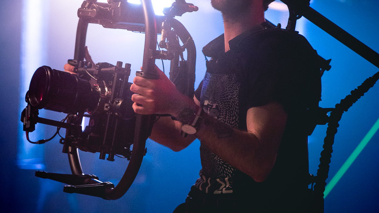 Devin Karrintgen with his MOVI rig.