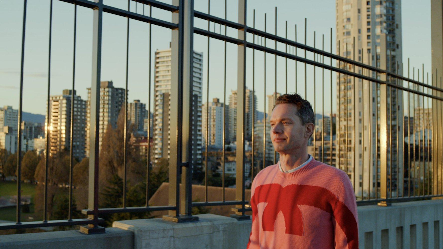 Lyle XOX as Lyle Reimer walking through Vancouver, BC