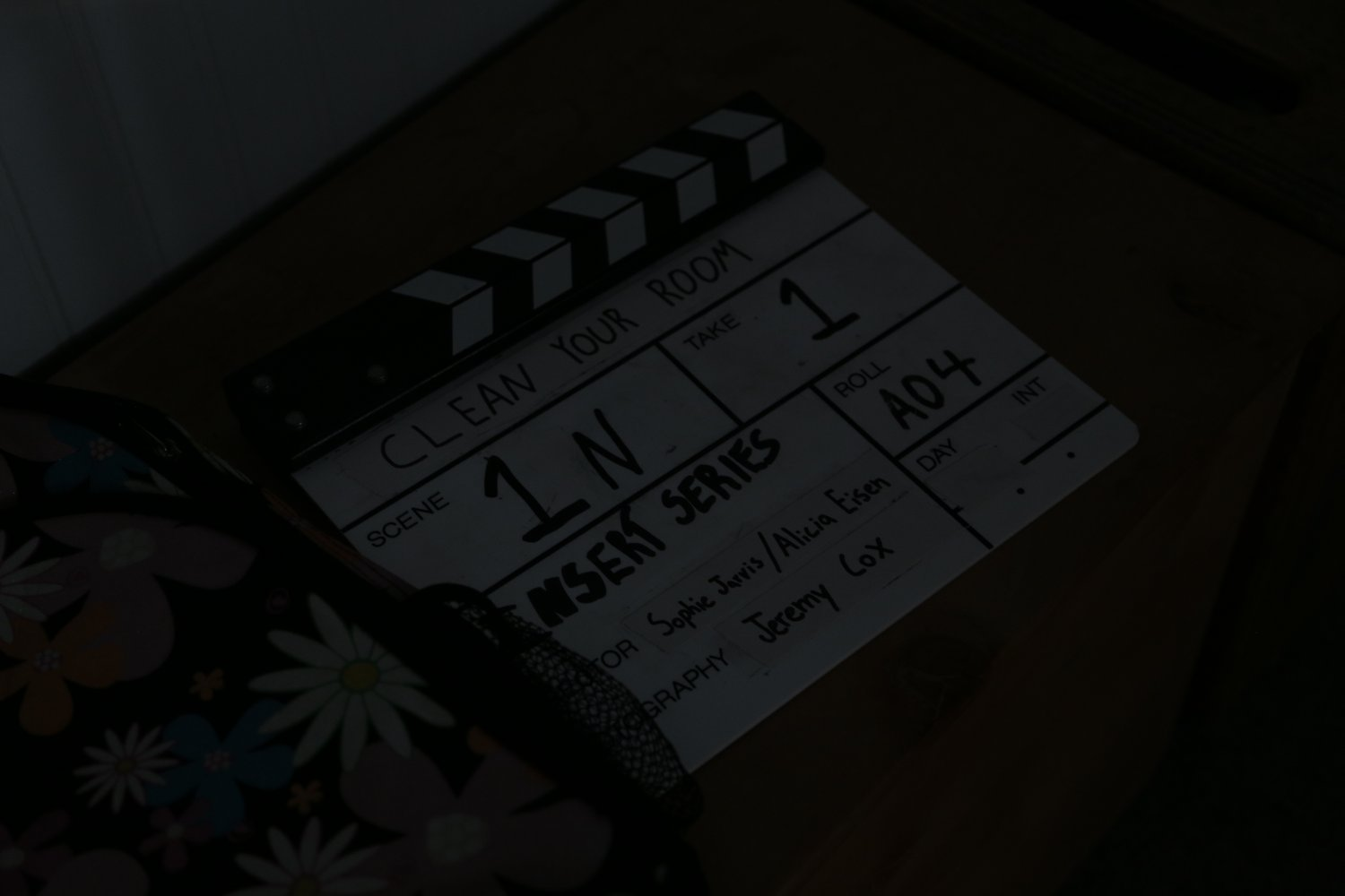 Completing Scene 1 of the film.