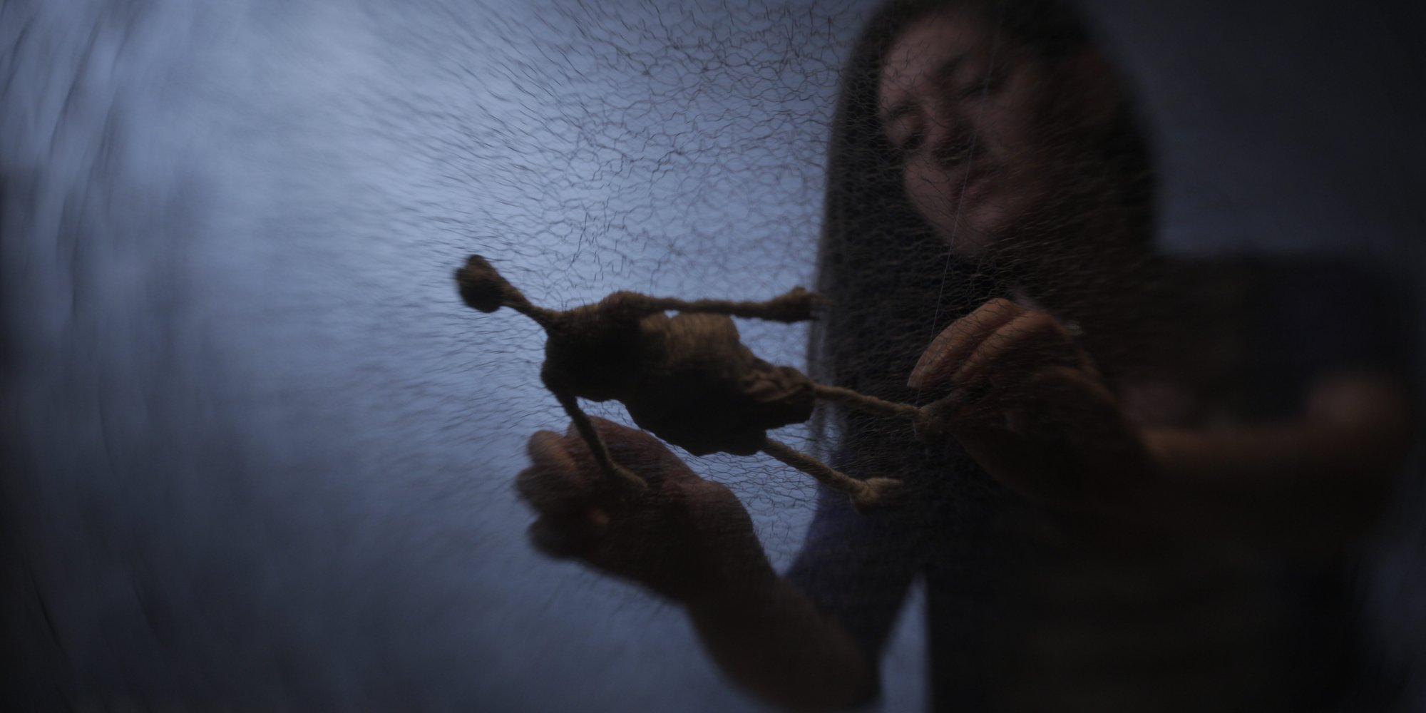 Director/Animator Alicia Eisen puts the finishing touches on a scene under water.