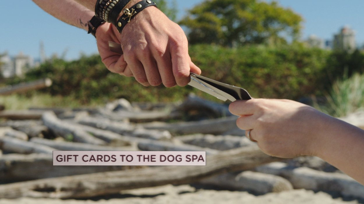 Josh from Marianas Trench gave gift cards to dog owners at the beach