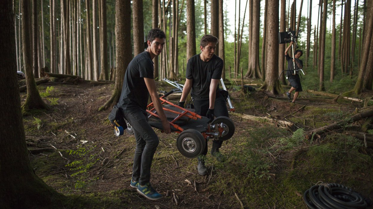 Our grips had to haul all our gear into the forest. Deep into the forest.