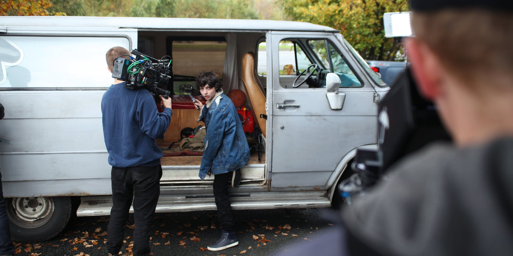The van we used for this video didn't always start. And no, we didn't actually let the kids drive.