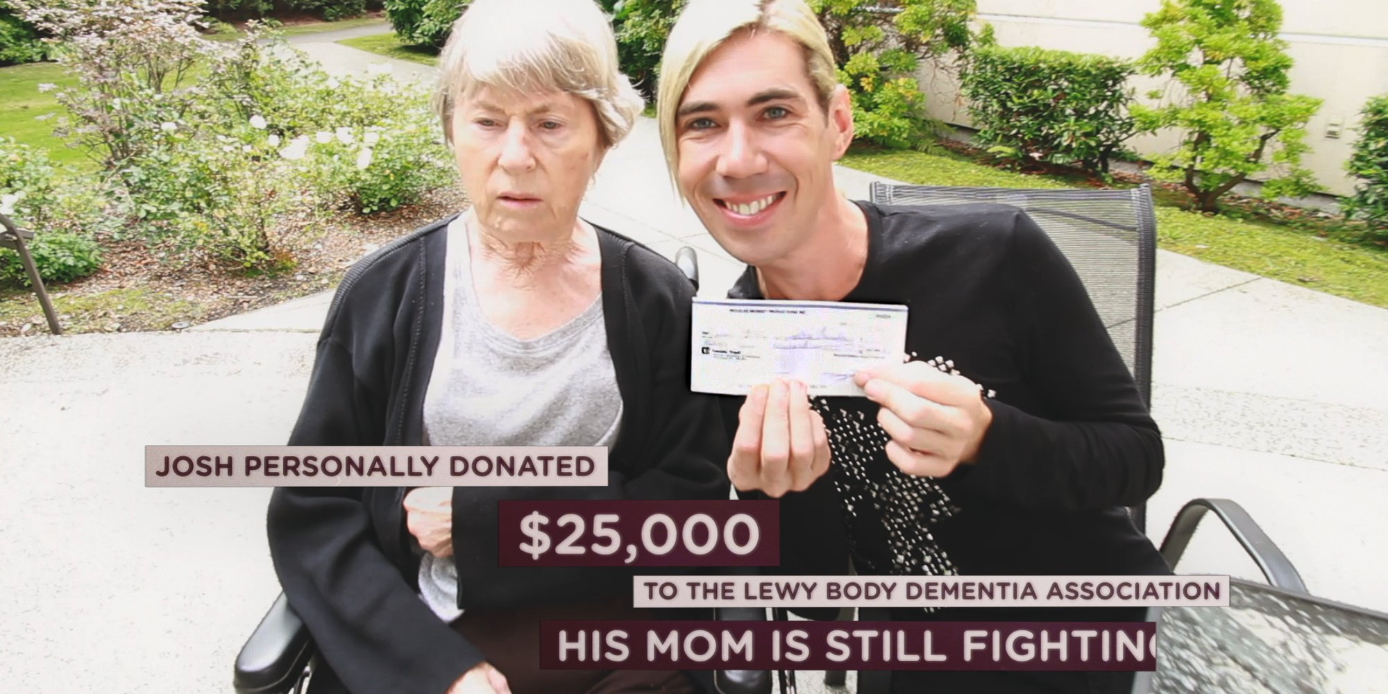 Josh personally donated 25,000 dollars to fight body dementia