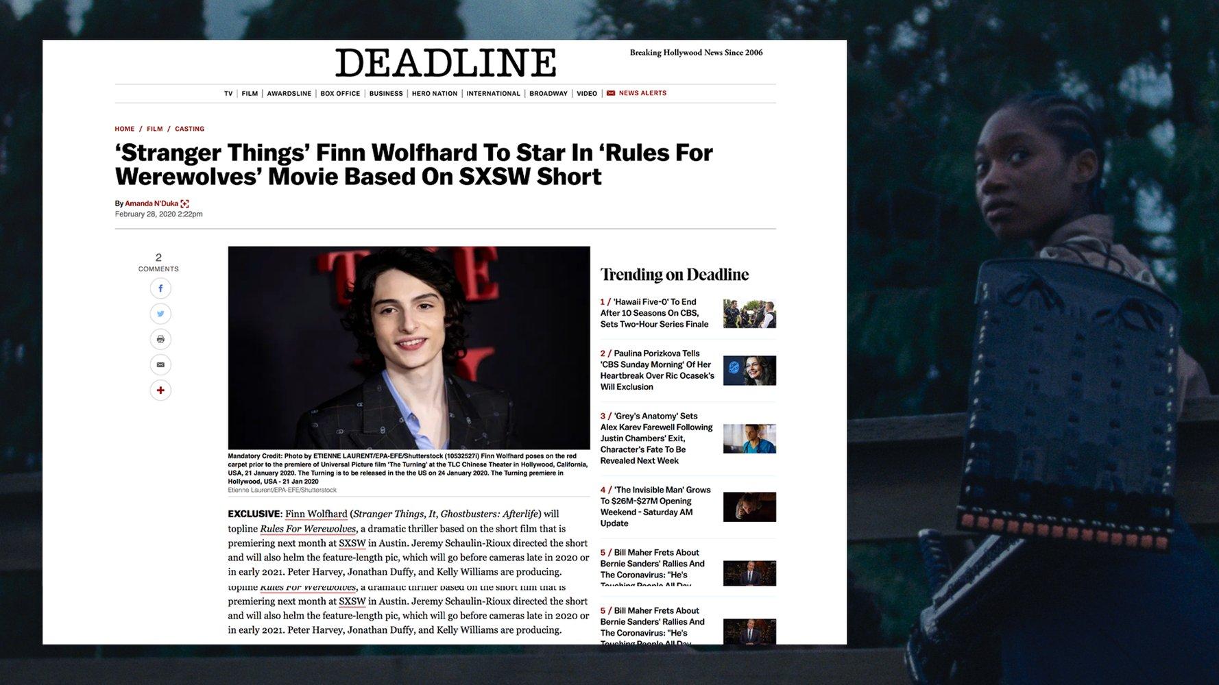 Deadline article