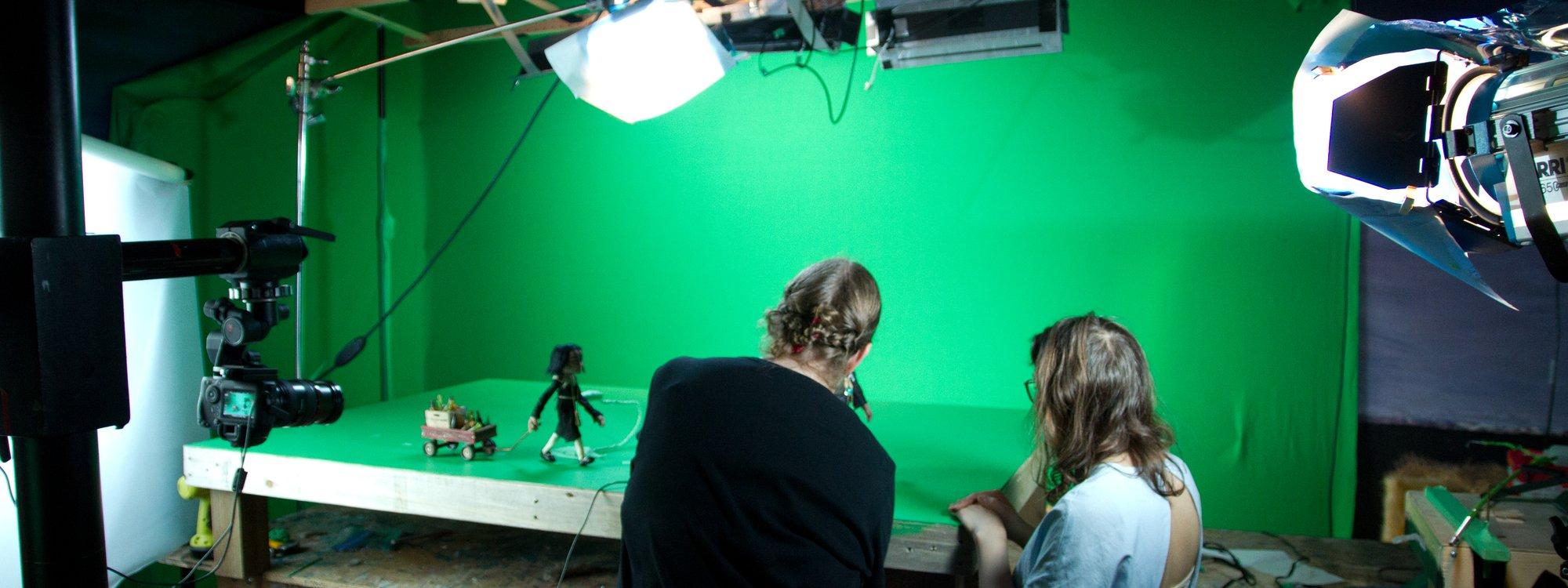 Animators prepping for the next frame of FFOTM.