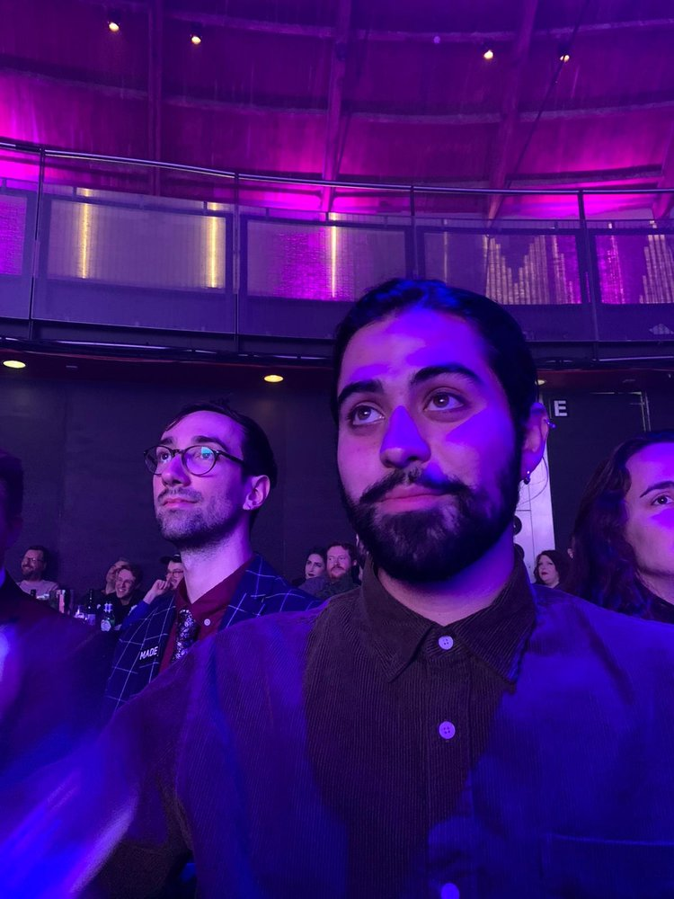 Sebastien Galina and Farhad Ghaderi at the 2019 UKMVAs