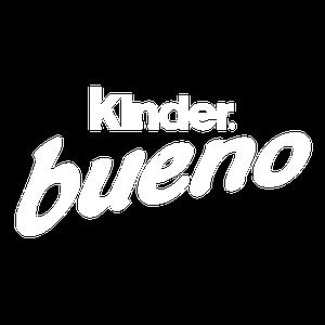 Kinder Bueno logo white