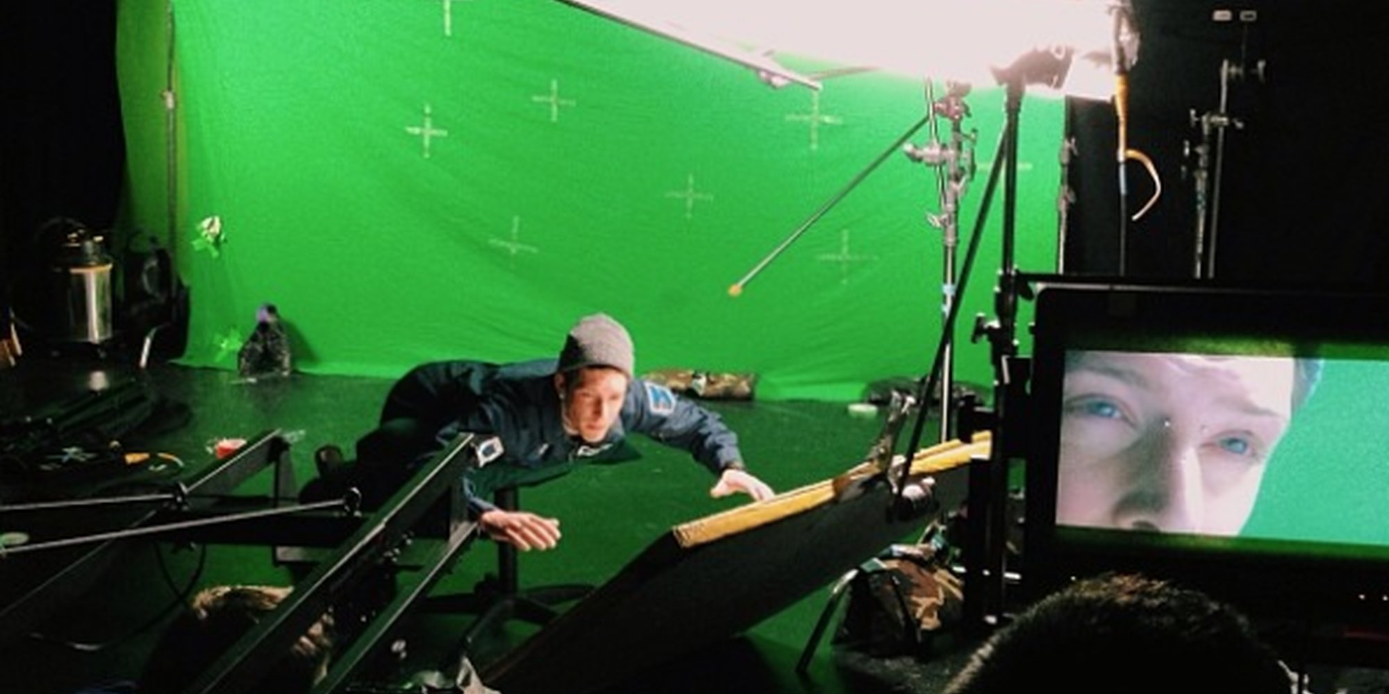 Shooting is space is expensive, so we filmed everything on a green screen, in a garage.  Had you fooled, eh?