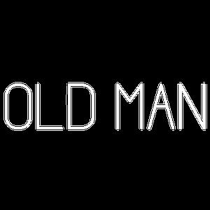Old Man logo white