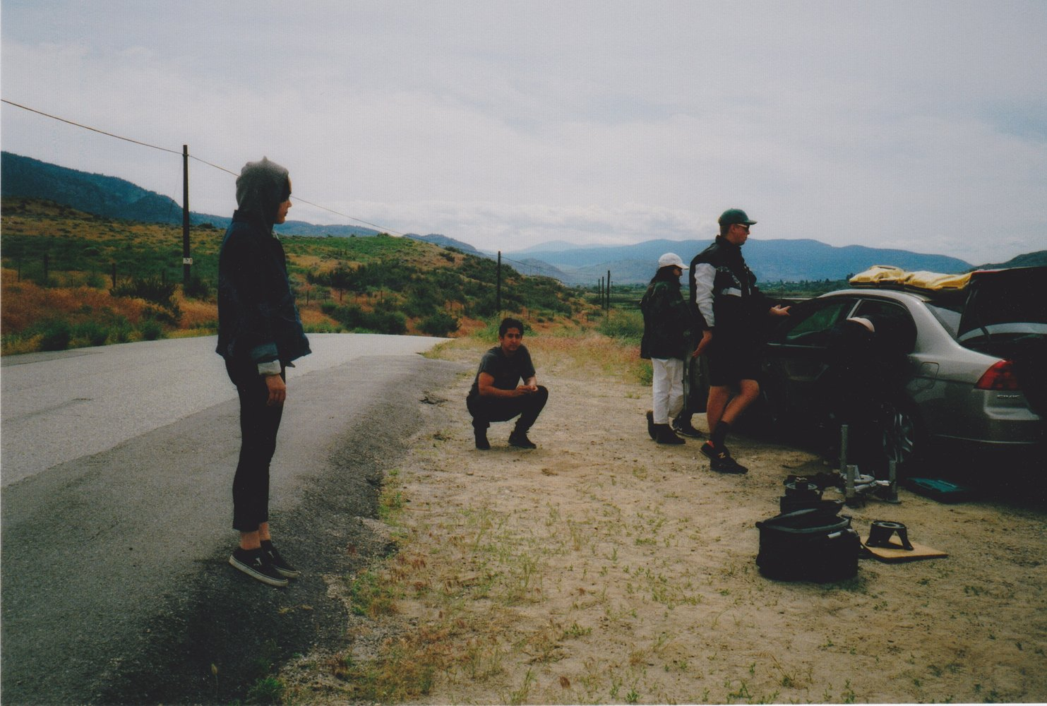 The crew on set of Kingspin