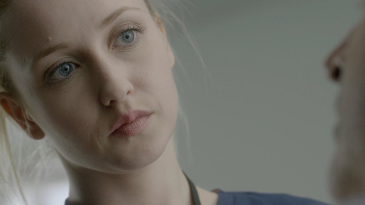 Emily Tennant playing nurse Eve in the Lighthouse Trilogy.