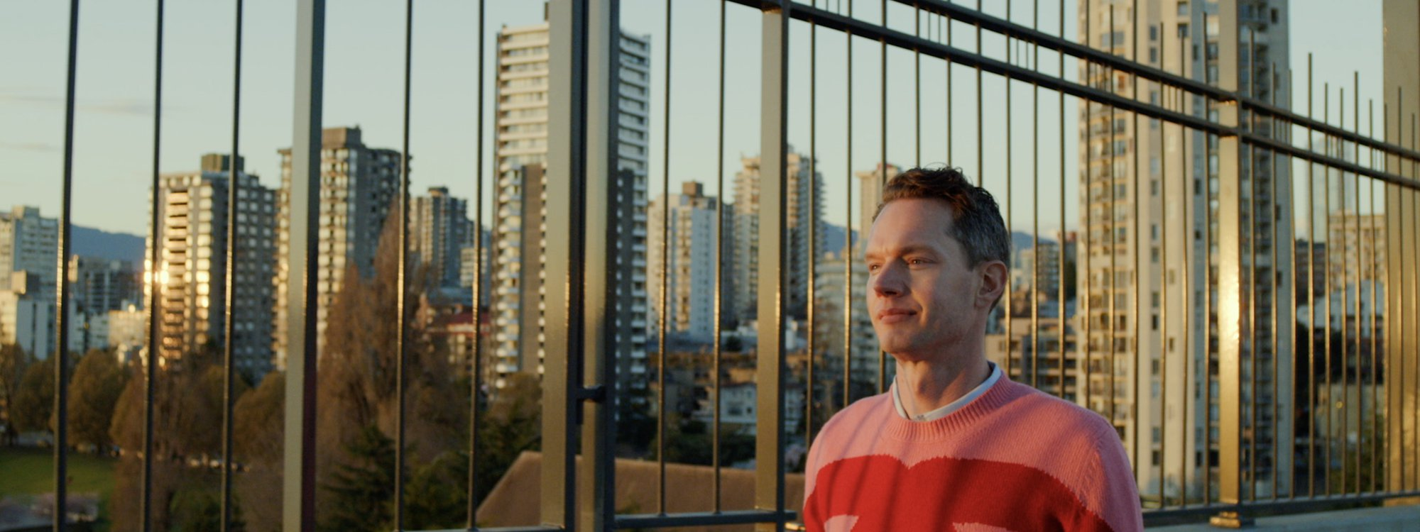 Lyle XOX as Lyle Reimer walking through Vancouver, BC