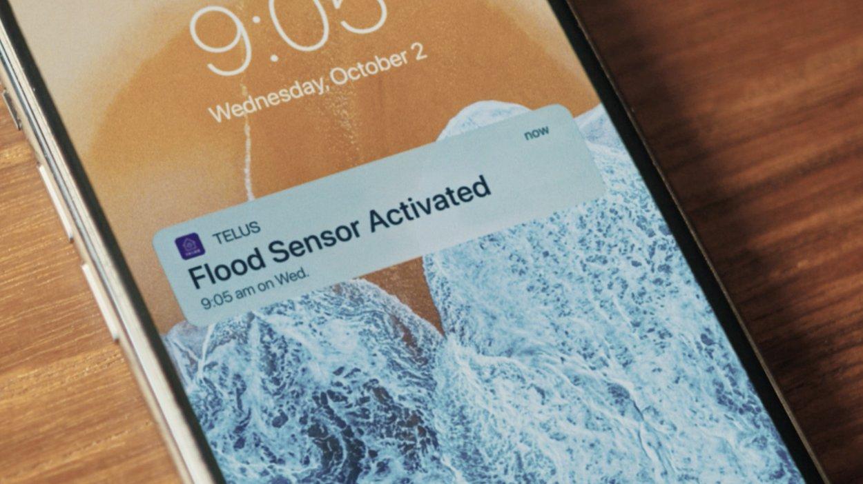 Telus - Smart Home - Flood Sensor Alert on Phone