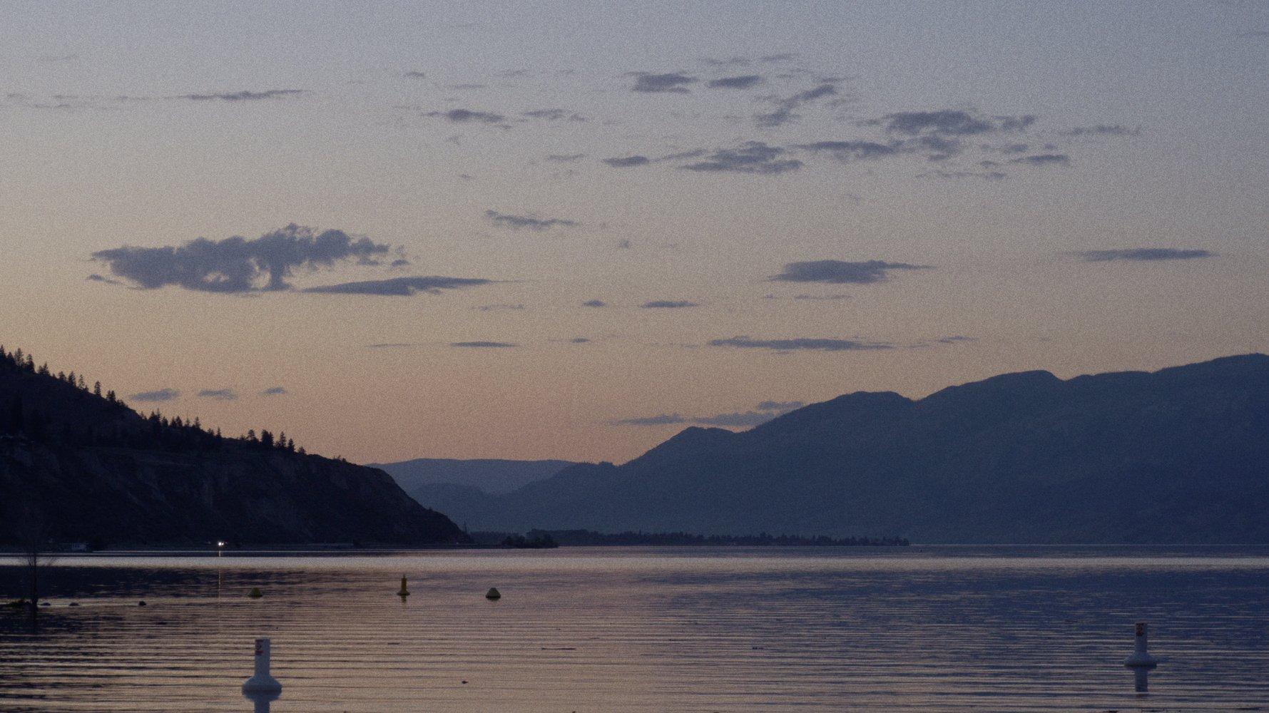 On location in Pentiction, British Columbia