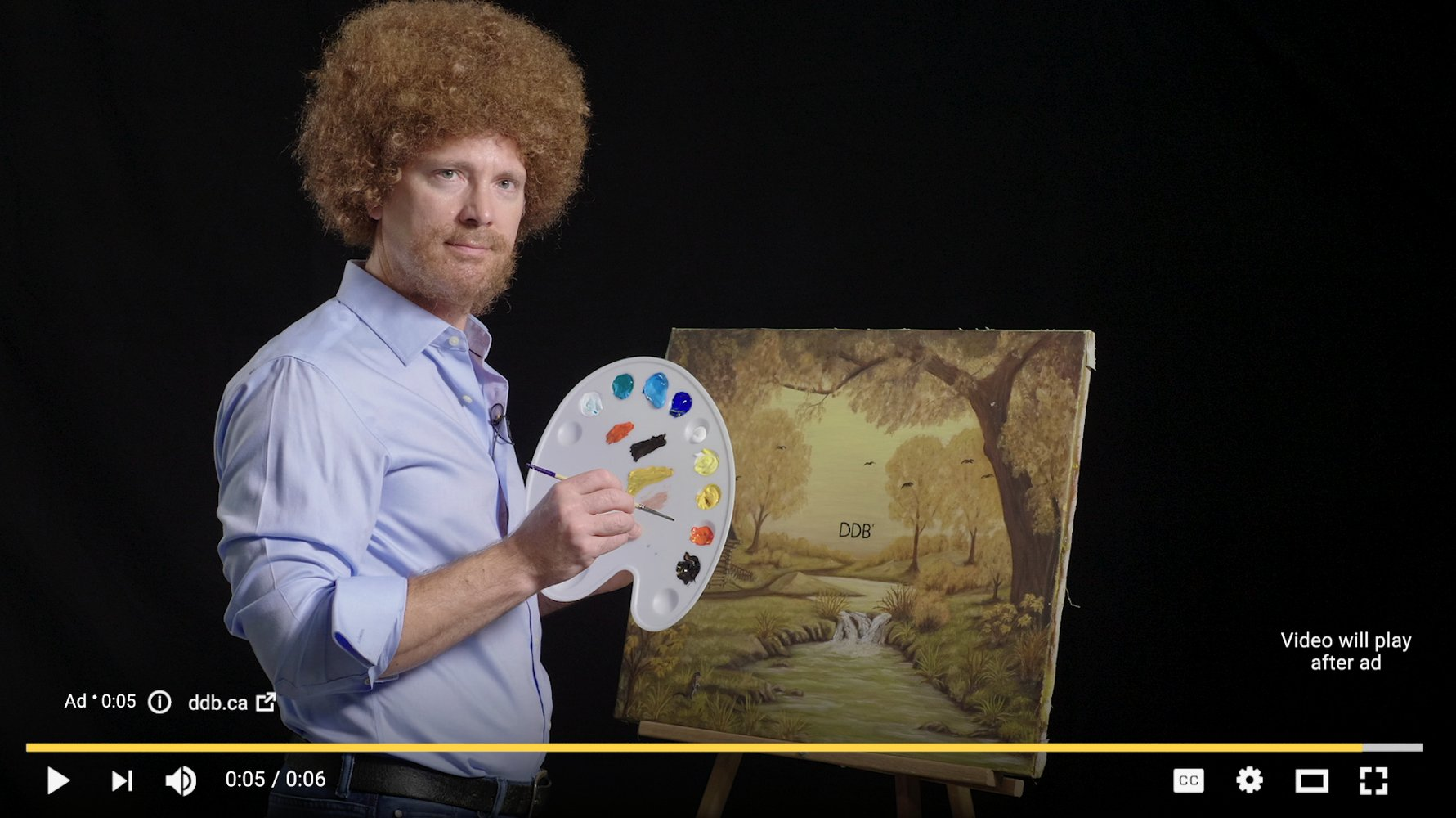 DDB Being their most Bob Ross.